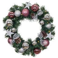 Kerstkrans met decoratie
