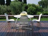 tuinset Ninfea tuintafel rond 120 cm met 4 tuinstoelen ninfea