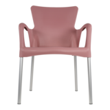 Bella stapelstoel van Lesli living roze_