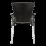 Bella stapelstoel van Lesli living zwart_