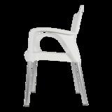 Bella stapelstoel van Lesli living wit_