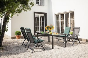 Kettler Legato tuinset antraciet verstelbare tuinstoel met loft tafel