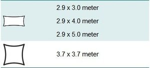 wavesail 2,9x4 meter zand