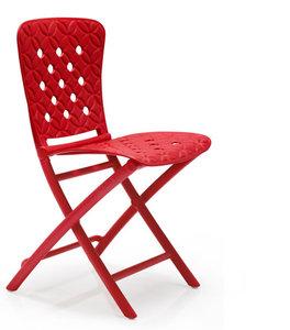 Nardi kunststof klapstoel Zac Spring kleur: rood