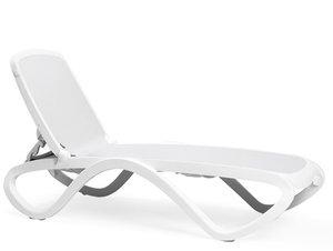 Omega ligbed Nardi in de kleur wit/wit