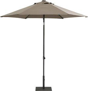 Toledo ronde parasol 250 cm, kleur: taupe