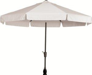 Toledo ronde parasol 3 meter, kleur: grijs