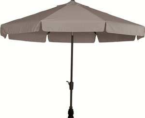 Toledo ronde parasol 3 meter, kleur: taupe