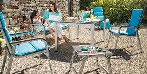 Kettler Easy tuinset antraciet met loft tafel