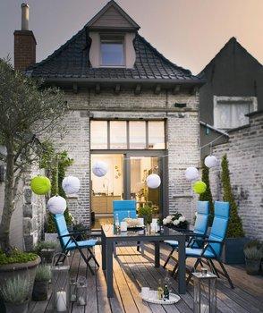 Kettler altura tuinset antraciet verstelbare tuinstoel met loft tafel