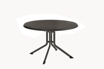 Kettler kettalux klaptafel rond 100 cm antraciet/antraciet