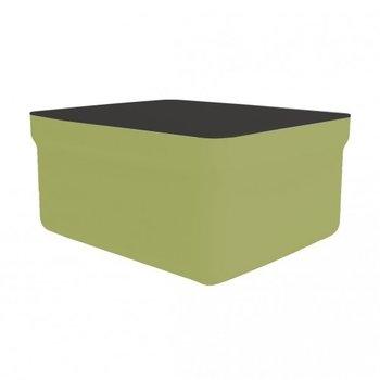 kunststof lounge footrest inclusief tafelblad Club kleur: olijf groen