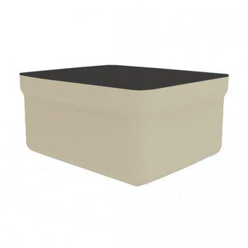 kunststof lounge footrest inclusief tafelblad Club kleur: zand
