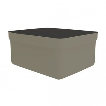 kunststof lounge footrest inclusief tafelblad Club kleur: chocolate