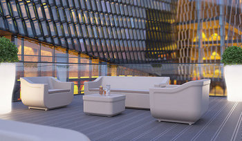 Club loungeset kleur: wit