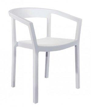 Peach kunststof stoel kleur: wit
