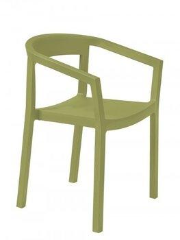 Peach kunststof stoel kleur: olijf groen