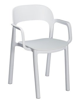 Ona kunststof stoel van Resol kleur: wit