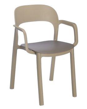 Ona kunststof stoel van Resol kleur: sand/chocolate