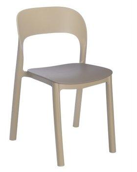 Ona kunststof terrasstoel van Resol kleur: zand/chocolate