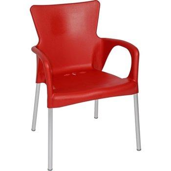 Bella stapelstoel van Lesli living rood