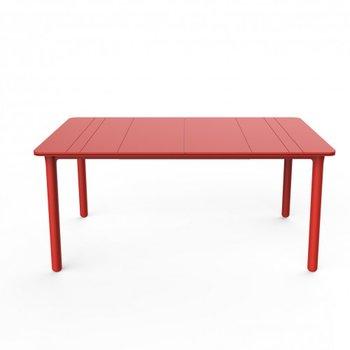 Resol Kunststof Tuintafel Noa 160x90 cm, kleur: rood