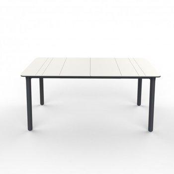 Resol Kunststof Tuintafel Noa 160x90 cm, kleur: donkergrijs