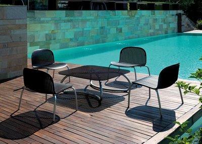 Ninfea kunststof loungeset voorzien van aluminium frame