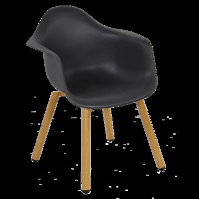 Stoel kunststof Montreux zwart