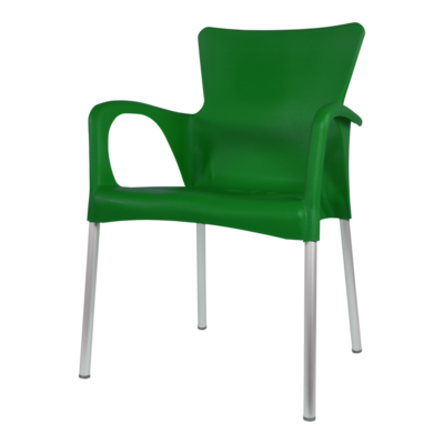 Bella stapelstoel van Lesli living donker groen