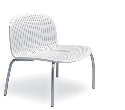 Nardi kunststof loungestoel Ninfea kleur: wit/wit
