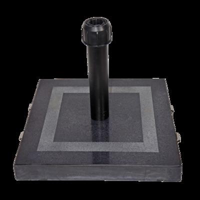 Parasolvoet vierkant graniet 30 kg zwart
