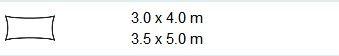 Schaduwdoek rechthoek 3x4 grijs