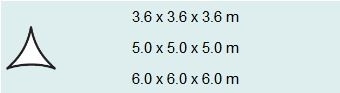 Schaduwdoek driehoek 5 grijs