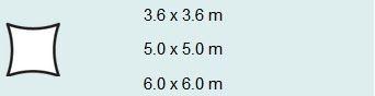 Schaduwdoek vierkant 3,6 zwart