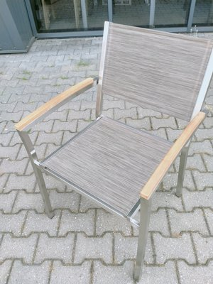 4 stuks rvs stoelen