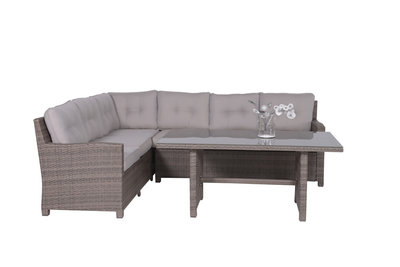Bordeaux medium loungeset in de kleur new kubu