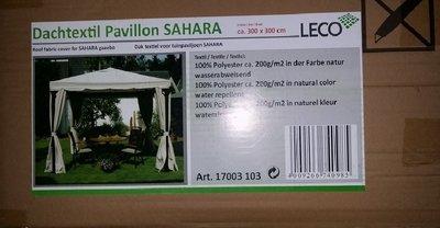 Leco dak Sahara tuinpaviljoen 3x3 meter.