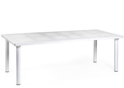 kunststof tuintafel Libeccio 160/220x100 cm kleur: wit