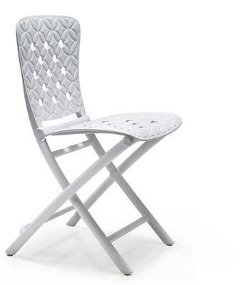 Nardi kunststof klapstoel Zac Spring kleur: wit