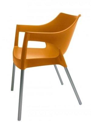 Resol Kunststof Tuinstoel Pole kleur: oranje