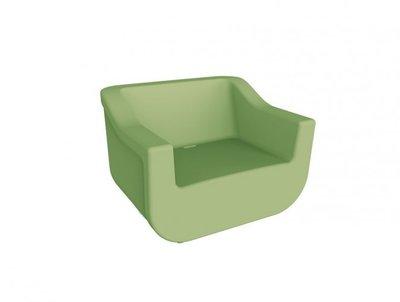 kunststof loungestoel Club kleur: olijf groen