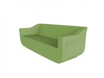 kunststof loungebank Club kleur: olijf groen