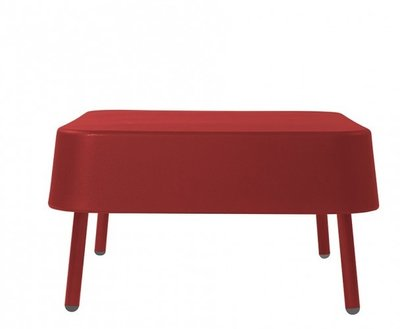 Kunststof Lounge footrest BOB van Resol kleur: rood