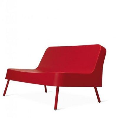 Kunststof Loungebank BOB van Resol kleur: rood