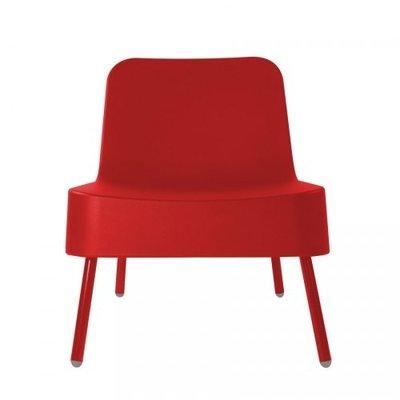 Kunststof Loungestoel BOB van Resol kleur: rood