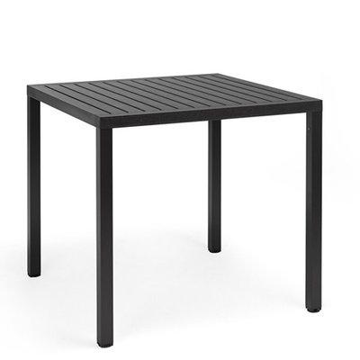 Nardi Cube 80 tafel een kunststof tuintafel vierkant 80 cm, kleur: antraciet