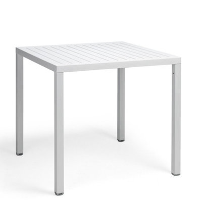 Nardi Cube 80 kunststof tuintafel vierkant 80 cm, kleur: wit