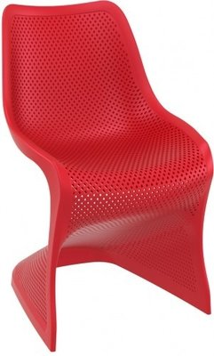 Bloom stoel van Resol kleur: rood