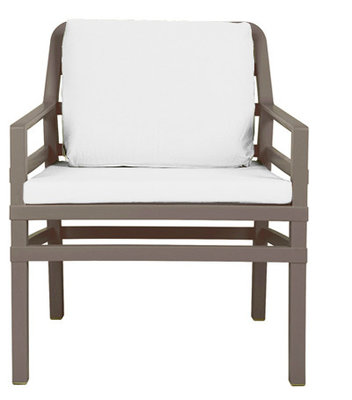 Nardi Aria Kunststof Loungestoel kleur: tortora/wit
